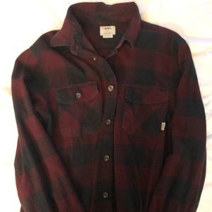 vans red and black plaid flannel